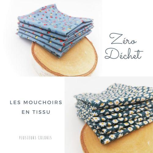 Mouchoirs en tissu lavables et réutilisables
