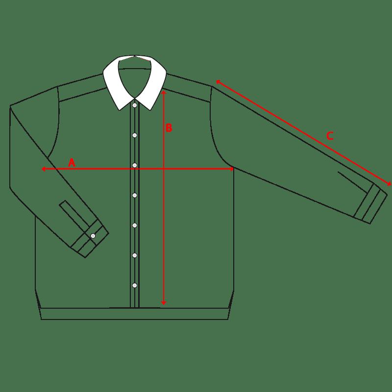 misure camicia collo classico