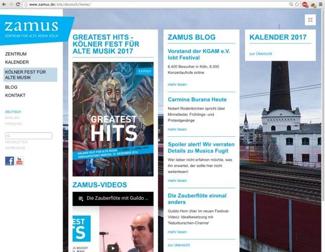 ZAMUS Website Design