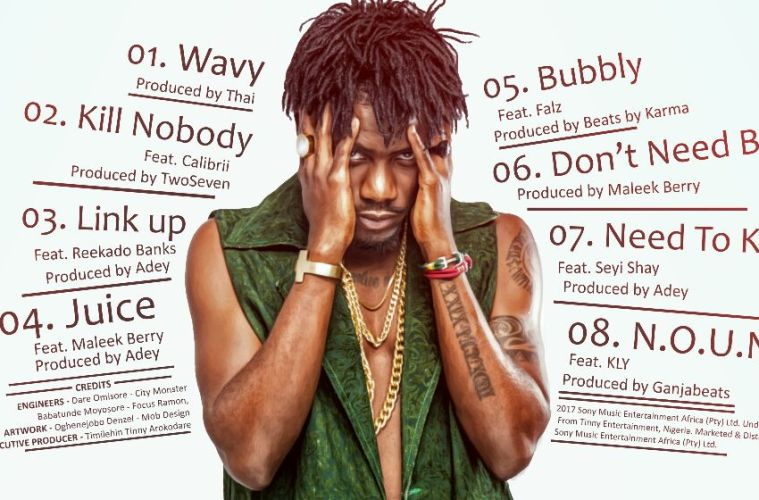 Tracklist For Ycee's First Wave EP