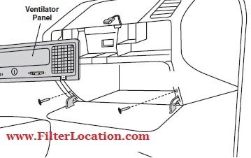 BMW 325i and 325S cabin air filter location