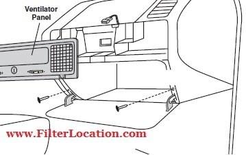 BMW M3 series cabin air filter location
