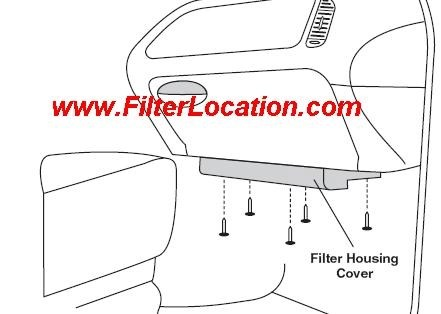 2000 Ford f150 cabin filter location