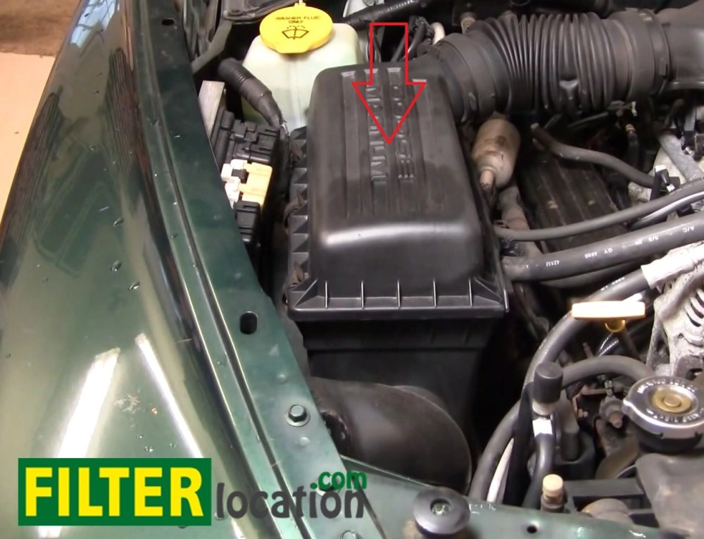 medium resolution of you can start the process of replacing the air filter by opening the hood of the
