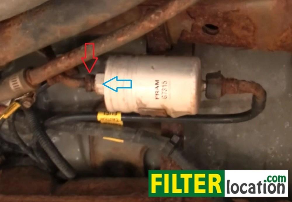 medium resolution of cavalier fuel filter removal