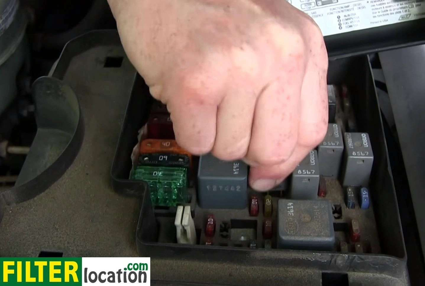 hight resolution of  locate and unplug the relay for the fuel pump use the relay diagram if needed by doing that the engine will stop draining most of the fuel on the