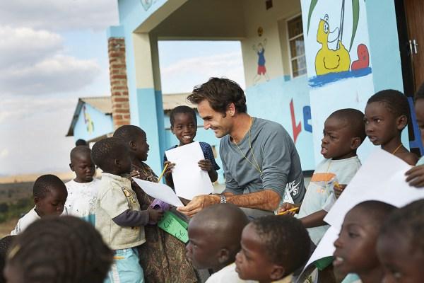 Roger Federer Foundation In Malawi Shot Jens Honor