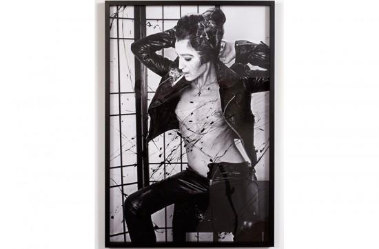 Andrea Mary Marshall Elvis, no.3, Self Portrait, 2013 Enamel on archival pigment print