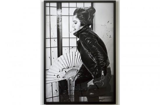 Andrea Mary Marshall Elvis, no.4, Self Portrait, 2013 Enamel on archival pigment print