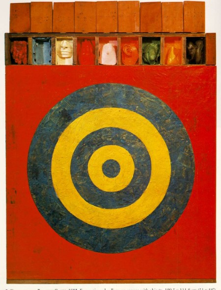 Jasper Johns, Target With Plaster Casts, 1955, encaustic and collage on canvas with objects (via artchive.com)