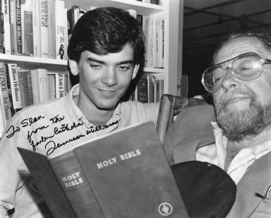 Tennessee Williams reading the Bible to Sean Strub (via seanstrub.com)