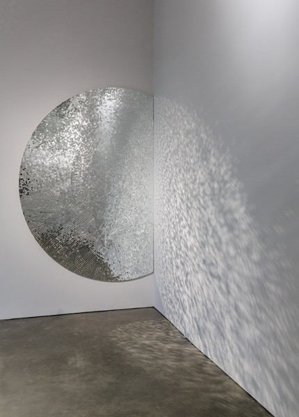 Jim Hodges, Movements (Stage 1), 2005. mirror on canvas, 96 x 66 inches. Private collection. © Jim Hodges. Photo by John Kennard.