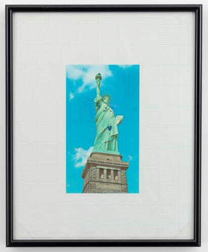 Mike Kelley, The Gateway to Freedom, from Reconstructed History series, 1989, ink on printed paper, mounted on paper (all images © The Estate of Mike Kelley/Mike Kelley Foundation for the Arts; via Skarstedt Gallery)