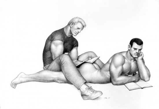 Tom of Finland, Untitled, 1987, Graphite on paper, Tom of Finland Foundation, Permanent Collection