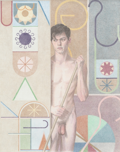 Elijah Burgher, Bachelor (Paul), 2015, Colored pencil on paper