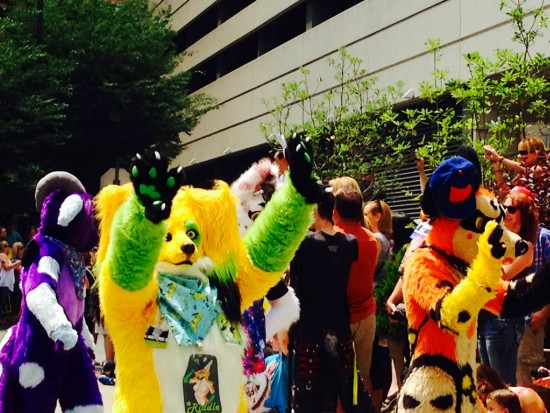 Colorful critters in the parade!