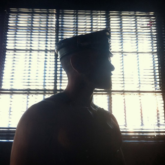John Arsenault, Silhouette of a Leatherman, 2012, archival pigment print (Courtesy the artist and ClampArt, New York)