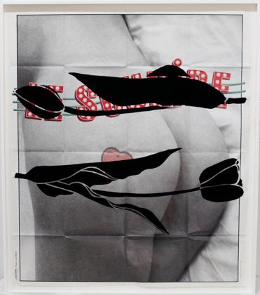 Aïda Ruilova, The Smile, 2015. Paper and velvet (all images courtesy the artist and Marlborough Chelsea)