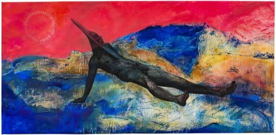 Cy Gavin, Aubade II (Spittal Pond), 2016 acrylic, oil, chalk on canvas