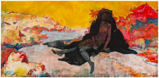 Cy Gavin, The Future of Tucker's Point, 2015 acrylic, oil, chalk on canvas (all images courtesy the artist and Sargent's Daughters, New York)
