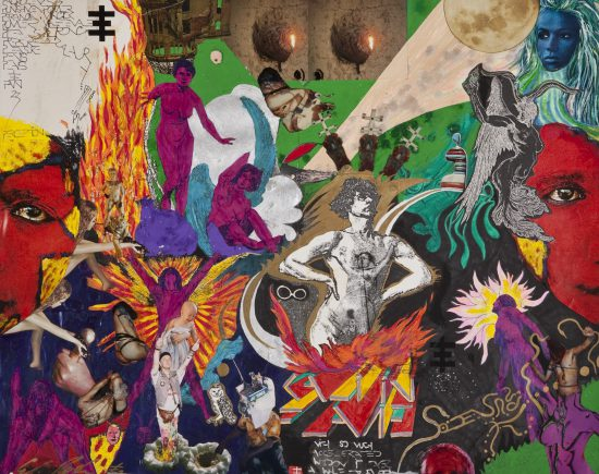 Genesis Breyer P-Orridge, Kali in Flames, 1986, mixed media (Courtesy the artists and Invisible-Exports)