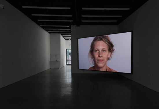 Installation view: Ben Vida, [Smile on.] . . . [Pause.] . . . [Smile off.], Lisa Cooley, New York, 2016 (Image courtesy the artist and Lisa Cooley, New York)