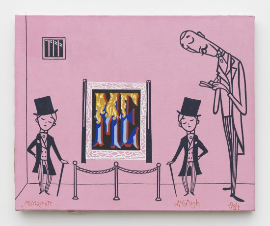McDermott & McGough, The Pink Cell, 1984 / 2016, Oil on linen (all images courtesy the artists and James Fuentes Gallery)
