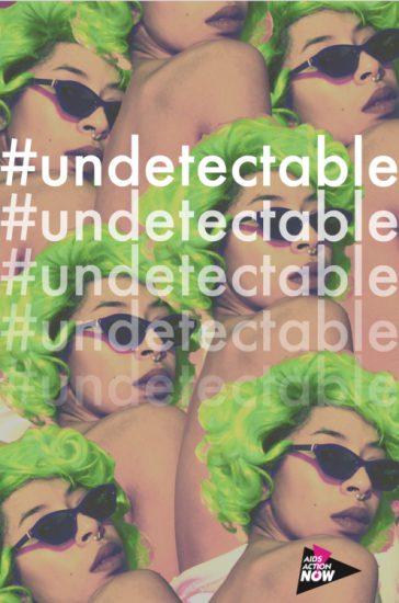 "Kia LaBeija ""#undetectable"" for PosterVirus 2016 (image via PosterVirus' Tumblr; Courtesy the artist and PosterVirus)"