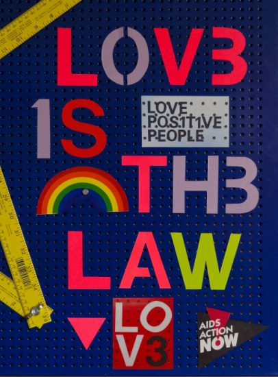 """FASTWÜRMS """"LOVE IS THE LAW"""" for PosterVirus 2016 (image via PosterVirus' Tumblr; Courtesy the artist and PosterVirus)"""