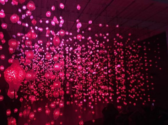 Installation view of Pipilotti Rist's Pixel Forest at New Museum (photo by author)