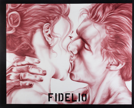 Zoe Barcza, Fidelio, 2016, acrylic and flashe paint on canvas (image courtesy the artist and Team (gallery, inc.))