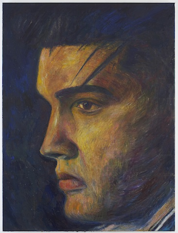 Keith Mayerson, Elvis The King, 2006, oil on linen (Courtesy the artist and INVISIBLE-EXPORTS, New York)
