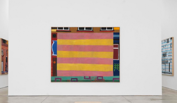 Installation view of Tal R's Keyhole at Cheim & Read