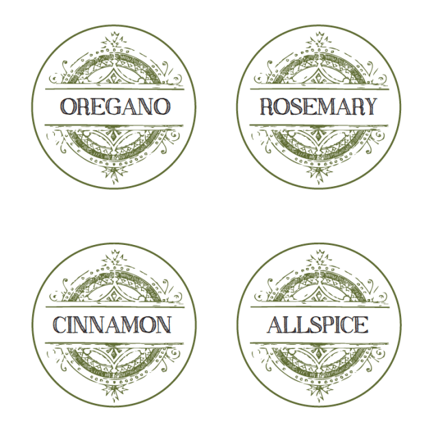 spice label template free download