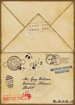 Harry Potter Party Envelopes