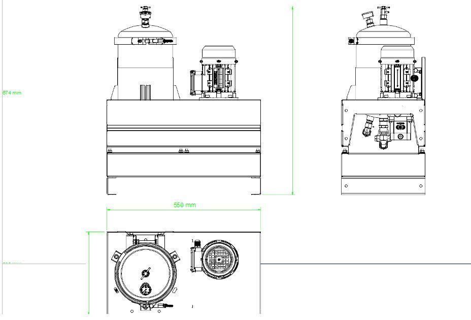 Układ ogólny- agregat filtracyjny AD1001-T-DX