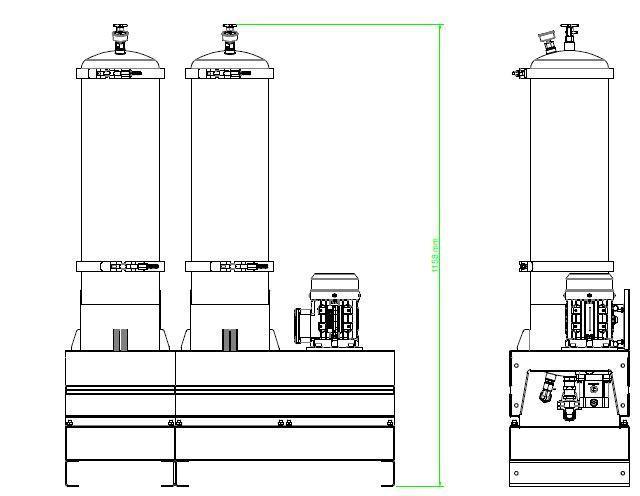 Układ ogólny- agregat filtracyjny AD1006-T-DX