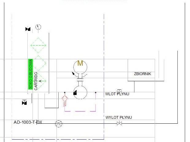 schemat hydrauliczny- agregat AD1003-T-DX