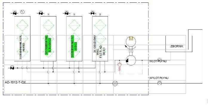 schemat hydrauliczny AD1012-T-DX