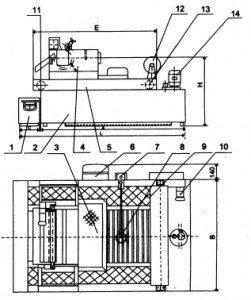 separator magnetyczny z filtrem papierowym-schemat