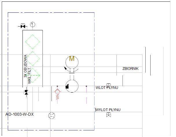 układ hydrauliczny- agregat filtracyjny AD1003-W-DX