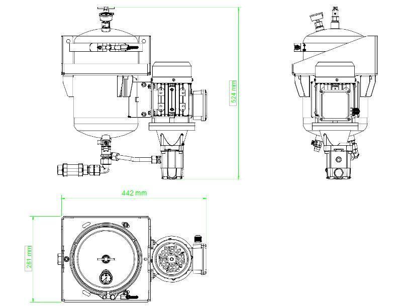 układ ogólny- agregat filtracyjny AD-1001W-DX