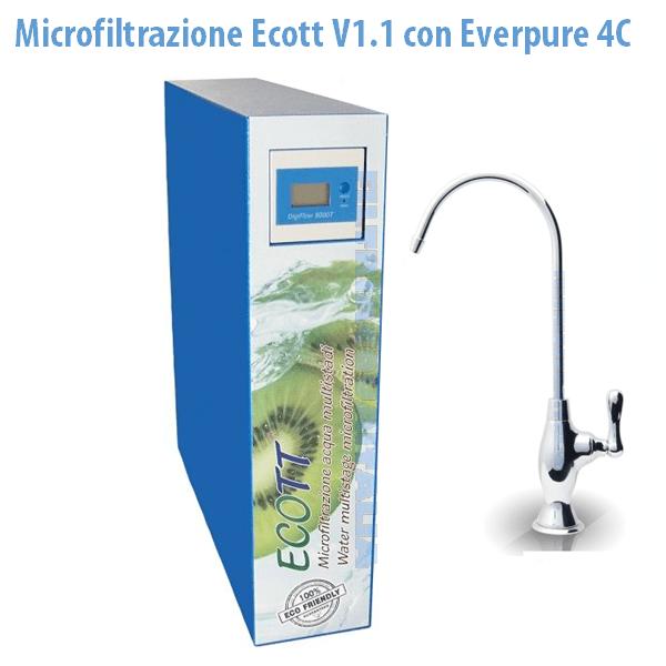 MICROFILTRAZIONE ACQUA ECOTT V1.1 CON EVERPURE 4C