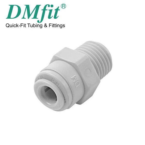 """TERMINALE DIRITTO TUBO 3/8"""" x 3/8"""" FILETTO DMFIT AMC0606"""