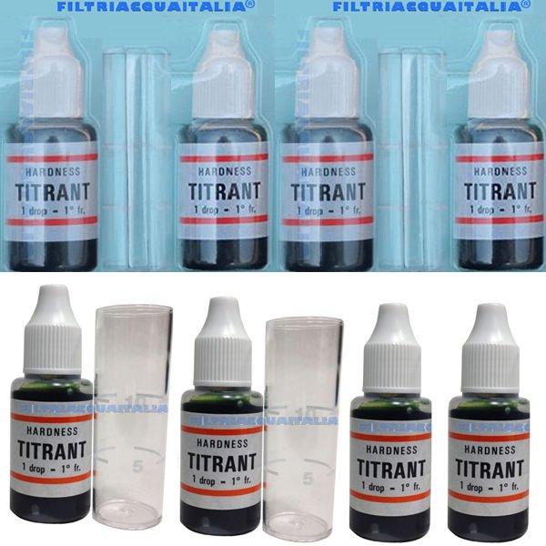 Titrant Kit Durezza Acqua Set 4 Pezzi