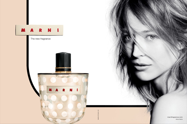The Marni model.  All we know is that she's flogging an amazing frag.