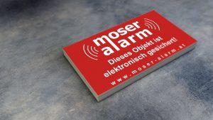 Moser-Alarm-Aufkleber