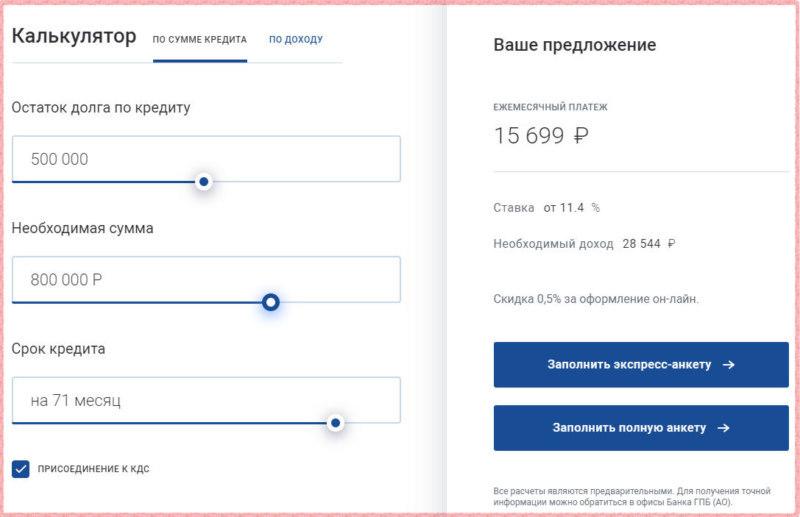 газпромбанк рассчитать кредит онлайн калькулятор вклад в кубань кредит под проценты