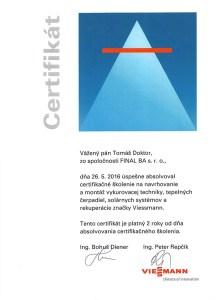 certifikát Viessmann