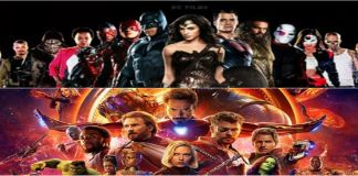 Upcoming superhero movie banner